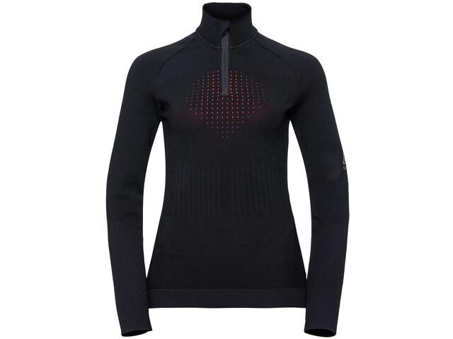 Odlo I-Thermic Bluza z zamkiem błyskawicznym Kobiety, black
